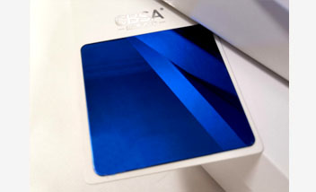 Blue Mirror Stainless Steel Sheet