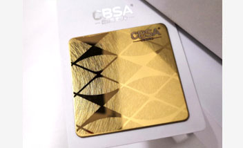 Gold Vibration Stainless Steel Sheet