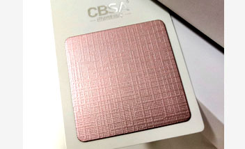 Pink Cloth Stainless Steel sheet