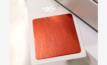 Red Vibration Stainless Steel sheet