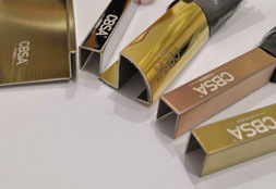 Colored stainless steel samples